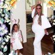 Beyoncé avec sa fille Blue Ivy lors de la célébration de Pâques. Photo posté sur Instagram le 23 avril 2017.