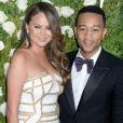 Chrissy Teigen et son mari John Legend - Les célébrités arrivent au Tony award à New York le 11 juin 2017.