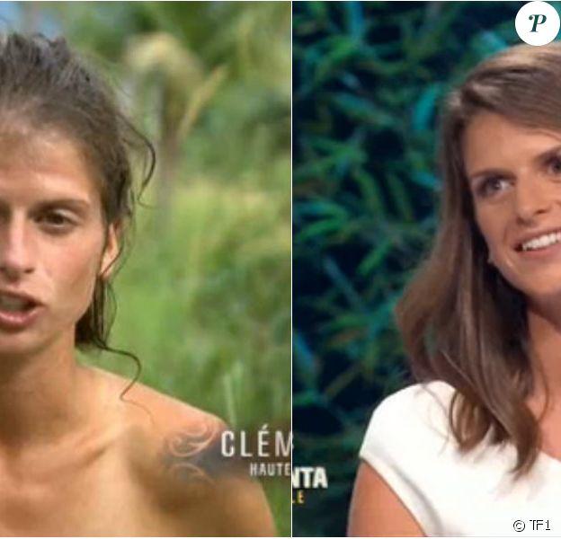 """Clémentine - Les candidats transformés physiquement. Finale de """"Koh-Lanta Cambodge"""" sur TF1, le 16 juin 2017."""