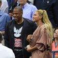 Beyoncé et son mari Jay Z pendant l'US Open 2016 au USTA Billie Jean King National Tennis Center à Flushing Meadow, New York City, New York, Etats-Unis, le 1er Septembre 2016.
