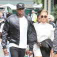 Beyonce et son mari Jay Z quittent Wimbledon après la finale femme remportée par Serera Williams à Londres le 9 juillet 2016.