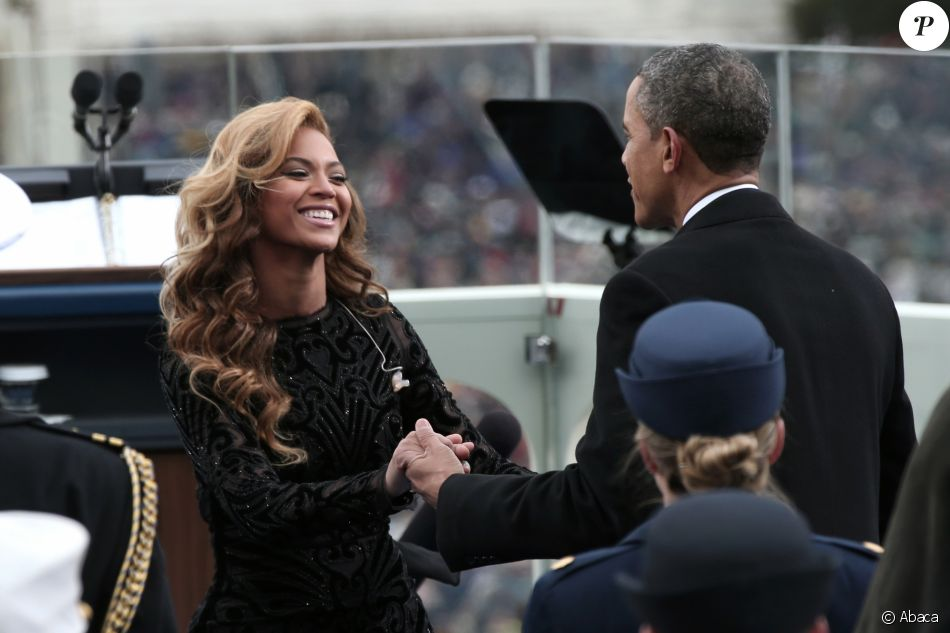 Beyonce chante pour le President Obama lors de son investiture à Washington, le 21 janvier 2013