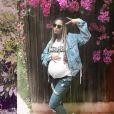 Beyoncé, enceinte de ses jumeaux, dans un look casual sur Instagram, le 4 mai 2017.