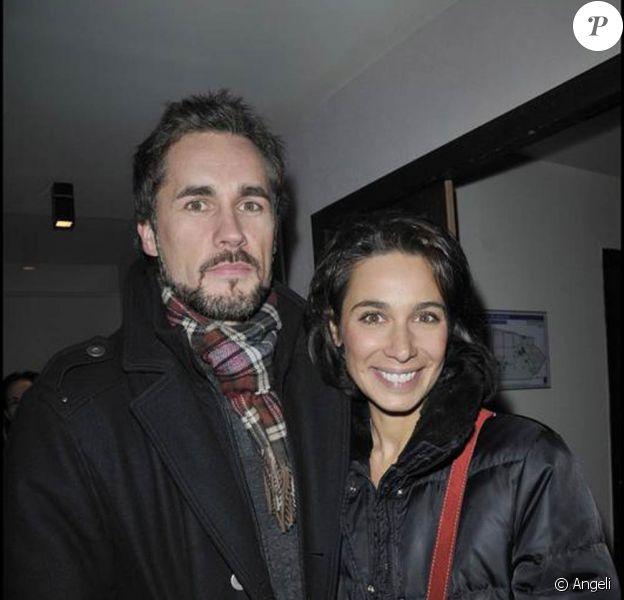Marie Fugain et son époux à la présentation de la pièce Madame Butterlight. 28/01/09