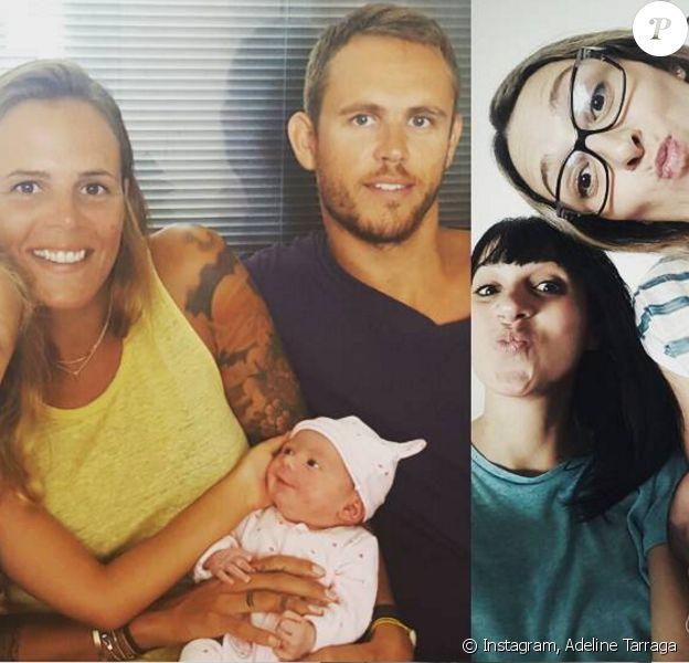 Adeline Taraga présente sa fille Rose à la famille de son compagnon Nicolas Manaudou, sur Instagram, le 11 septembre 2016