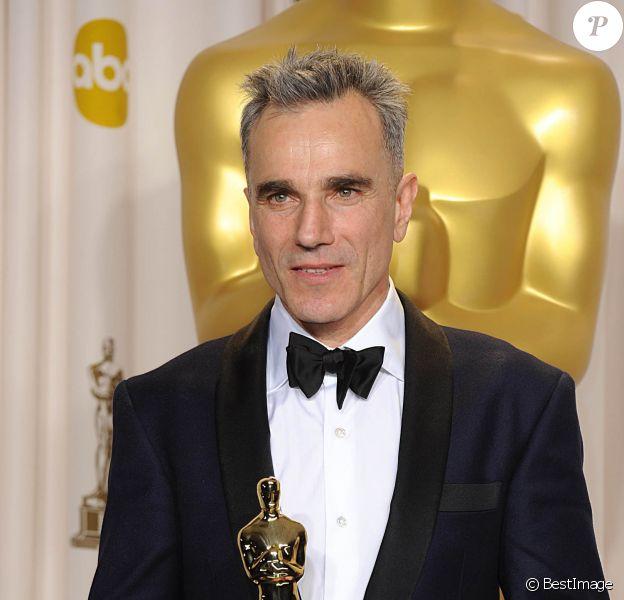 Daniel Day-Lewis, Oscar du meilleur acteur pour sa performance dans Lincoln - Press Room de la 85eme ceremonie des Oscars à Hollywood, le 24 février 2013.