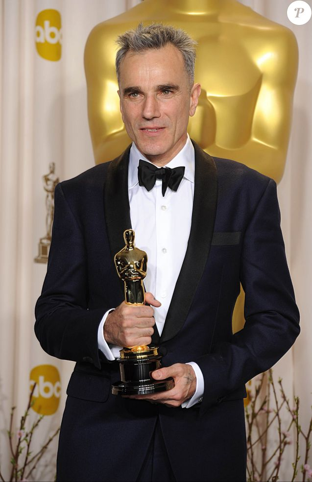 Daniel Day-Lewis, Oscar du meilleur acteur pour sa performance dans Lincoln - Press Room de la 85eme ceremonie des Oscars à Hollywood, le 24 février 2013.