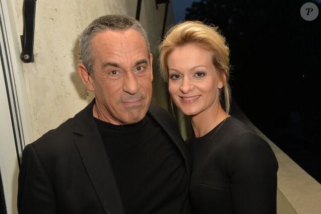 Thierry Ardisson et sa femme Audrey Crespo-Mara - Anniversaire de Jacques Sanchez au restaurant Nolita à Paris le 29 mai 2016. © Veeren/Bestimage