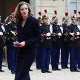 Nathalie Kosciusko-Morizet - Arrivées pour la passation de pouvoir entre E.Macron et F.Hollande au palais de l'Elysée à Paris le 14 mai 2017. © Stéphane Lemouton / Bestimage