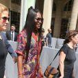 Naomi Campbell - Sorties du défilé de mode Louis Vuitton Hommes printemps-été 2018 au Palais Royal à Paris, le 22 juin 2017. © CVS/Veeren/Bestimage