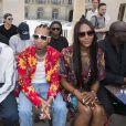 Jeremie Laheurte, le rappeur Tyga et Naomi Campbell - People en front row au défilé de mode Louis Vuitton Hommes printemps-été 2018 au Palais Royal à Paris, le 22 juin 2017. © Olivier Borde/Bestimage