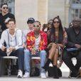 Brigitte Burke, Jeremie Laheurte, le rappeur Tyga, Naomi Campbell et guest - People en front row au défilé de mode Louis Vuitton Hommes printemps-été 2018 au Palais Royal à Paris, le 22 juin 2017. © Olivier Borde/Bestimage