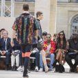 Michael Burke, le rappeur Tyga, Naomi Campbell et guest - People en front row au défilé de mode Louis Vuitton Hommes printemps-été 2018 au Palais Royal à Paris, le 22 juin 2017. © Olivier Borde/Bestimage