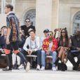 Michael Burke, Jeremie Laheurte, le rappeur Tyga, Naomi Campbell et guest - People en front row au défilé de mode Louis Vuitton Hommes printemps-été 2018 au Palais Royal à Paris, le 22 juin 2017. © Olivier Borde/Bestimage