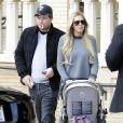 Petra Ecclestone, son mari James Stunt et leur fille Lavinia se baladent en famille avec Tamara Ecclestone enceinte a Beverly Hills, le 7 decembre 2013