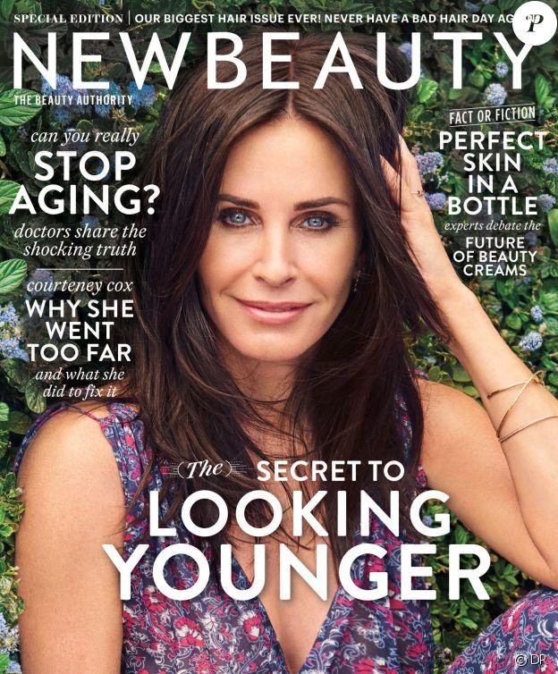 Courteney Cox en couverture du magazine NewBeauty - juillet 2017