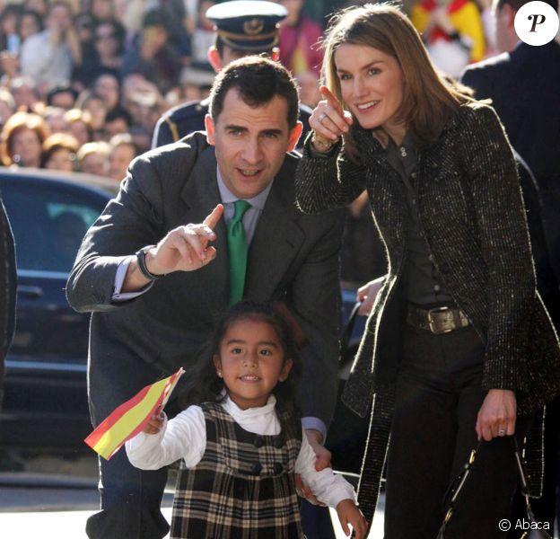 Prince Felipe et la Princess Letizia en visite dans la ville de Yecla pour les 41ans du prince