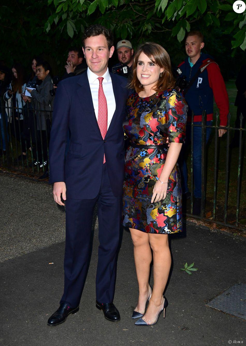 La princesse Eugenie d'York et son compagnon Jack Brooksbank à la summer party de la galerie Serpentine dans les jardins de Kensington à Hyde Park, le 28 juin 2017 à Londres.