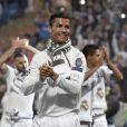 Cristiano Ronaldo et son fils Cristiano Ronaldo Jr - Cérémonie organisée au stade Santiago-Bernabeu de Madrid en l'honneur des joueurs du Real Madrid champions d'Europe le 29 mai 2016.