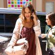 Jessica Alba arrive au Crosby Hotel à New York, le 15 juin 2017.