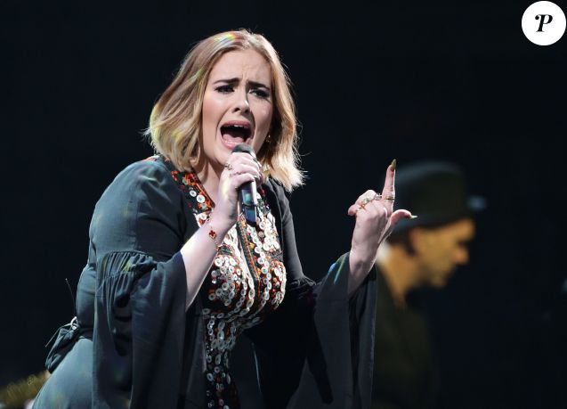 Adele en concert le 25 juin 2016.