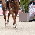 Guillaume Canet sur Swett Boy d'Alpa 22 - Prix Evian (1.30m) lors du Longines Paris Eiffel Jumping au Champ de Mars à Paris, France, le 2 juillet 2017. © Pierre Perusseau/Bestimage