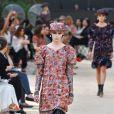 """Défilé de mode """"Chanel"""", collection Haute Couture automne-hiver 2017/2018, au Grand Palais à Paris. Le 4 juillet 2017."""