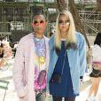 """Pharrell Williams et sa femme Helen Lasichanh - Défilé de mode """"Chanel"""", collection Haute Couture automne-hiver 2017/2018, au Grand Palais à Paris. Le 4 juillet 2017. © Olivier Borde/Bestimage"""