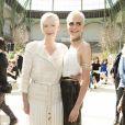 """Tilda Swinton et Cara Delevingne - Défilé de mode """"Chanel"""", collection Haute Couture automne-hiver 2017/2018, au Grand Palais à Paris. Le 4 juillet 2017. © Olivier Borde/Bestimage"""