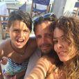 David Charvet avec sa femme et son fils Shaya. Juin 2017
