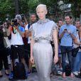Tilda Swinton - Soirée de la Vogue Paris Foundation, en marge de la Fashion Week Haute Couture. Pallais Galliera à Paris, le 4 juillet 2017.