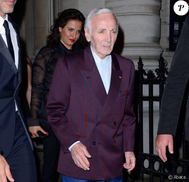 Charles Aznavour - Soirée de la Vogue Paris Foundation, en marge de la Fashion Week Haute Couture. Pallais Galliera à Paris, le 4 juillet 2017.