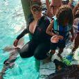 Mariah Carey et ses enfants ont nagé avec les requins - Photo publiée sur Instagram le 4 juillet 2017