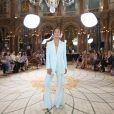 Cara Santana - Défilé de mode Lanyu, collection Couture automne-hiver 2017/2018 à l'hôtel Intercontinental à Paris, le 5 juillet 2017.
