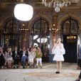 Défilé de mode Lanyu, collection Couture automne-hiver 2017/2018 à l'hôtel Intercontinental à Paris, le 5 juillet 2017. © Denis Guignebourg / Bestimage