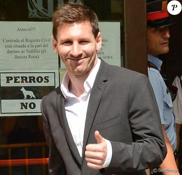 Lionel Messi - L'international de football Argentin Lionel Messi quitte le tribunal de Gava, pres de Barcelone le 27 septembre 2013. B