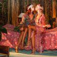 """Exclusif - Ouverture du restaurant vegan éphémère de Pamela Anderson """"La Table du Marché by Pamela"""" à Ramatuelle le 4 juillet 2017. La Table du Marché, c'est son nom, d'une capacité de 250 couverts ouvrira tous les soirs pendant 50 jours dans le cadre privilégié du restaurant du chef Christophe Leroy, les Moulins de Ramatuelle aux environs de Saint-Tropez. Celui-ci a prêté à Pamela Anderson son auberge de campagne et décline pour elle les thèmes """"végan, romantique, dolce vita et féministe"""". © Philippe Doignon/Bestimage"""