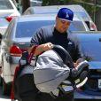 Exclusif - Rob Kardashian le jour de la fête des pères avec sa fille Dream et King Cairo le fils de Blac Chyna à Los Angeles le 18 juin 2017.