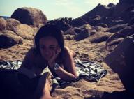 Alizée et Grégoire Lyonnet : Les jeunes mariés amoureux à la plage...