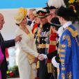 La reine Elisabeth II d'Angleterre, le prince Philip, duc d'Edimbourg, la reine Letizia d'Espagne - Le couple royal d'Espagne reçu au palais de Buckingham par la famille royale d'Angleterre à Londres. Le 12 juillet 2017  Reception ceremony on occasion for their official visit to United Kingdom in London on Wednesday 12 July 2017. On the first day of their 3 day tour of United Kingdom12/07/2017 - Londres