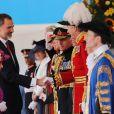 Le roi Felipe VI d'Espagne, la reine Elisabeth II d'Angleterre - Le couple royal d'Espagne reçu au palais de Buckingham par la famille royale d'Angleterre à Londres. Le 12 juillet 2017  Reception ceremony on occasion for their official visit to United Kingdom in London on Wednesday 12 July 2017. On the first day of their 3 day tour of United Kingdom12/07/2017 - Londres