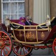 La reine Elisabeth II d'Angleterre et le roi Felipe VI d'Espagne - Le couple royal d'Espagne reçu au palais de Buckingham par la famille royale d'Angleterre à Londres. Le 12 juillet 2017  Queen Elizabeth II and King Felipe VI of Spain arrive by State Carriage at Buckingham Palace, London during the King's State Visit to the UK.12/07/2017 - Londres