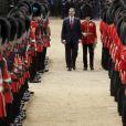 Le roi Felipe VI d'Espagne - Cérémonie de bienvenue au palais Buckingham à Londres. Le 12 juillet 2017  King Felipe VI of Spain inspects a guard of honour during a Ceremonial Welcome on Horse Guards Parade in London.12/07/2017 - Londres