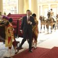 Le roi Felipe VI d'Espagne - Le couple royal d'Espagne reçu au palais de Buckingham par la famille royale d'Angleterre à Londres. Le 12 juillet 2017  Reception ceremony on occasion for their official visit to United Kingdom in London on Wednesday 12 July 2017. On the first day of their 3 day tour of United Kingdom12/07/2017 - Londres