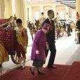 La reine Elisabeth II d'Angleterre et le roi Felipe VI d'Espagne - Le couple royal d'Espagne reçu au palais de Buckingham par la famille royale d'Angleterre à Londres. Le 12 juillet 2017  Reception ceremony on occasion for their official visit to United Kingdom in London on Wednesday 12 July 2017. On the first day of their 3 day tour of United Kingdom12/07/2017 - Londres