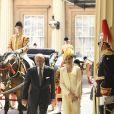 Le prince Philip, duc d'Edimbourg et la reine Letizia d'Espagne - Le couple royal d'Espagne reçu au palais de Buckingham par la famille royale d'Angleterre à Londres. Le 12 juillet 2017  Reception ceremony on occasion for their official visit to United Kingdom in London on Wednesday 12 July 2017. On the first day of their 3 day tour of United Kingdom12/07/2017 - Londres