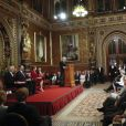 Le roi Felipe VI d'Espagne et la reine Letizia visitent le parlement à Londres le 12 juillet 2017.  Felipe an Letizia of Spain visit the British Parliament. July 12, 201712/07/2017 - Londres