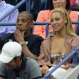 Beyoncé et son mari Jay Z pendant l'US Open 2016 au USTA Billie Jean King National Tennis Center à Flushing Meadow, New York, le 1er Septembre 2016.