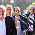 Michèle Laroque, Patrick Timsit, Michel Legrand lors de la cérémonie d'hommage aux victimes de l'attentat du 14 juillet 2016 à Nice, le 14 juillet 2017. © Bruno Bébert/Bestimage