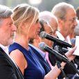 Michèle Laroque lors de la cérémonie d'hommage aux victimes de l'attentat du 14 juillet 2016 à Nice, le 14 juillet 2017. © Bruno Bébert/Bestimage